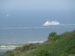 Ferry sur la mer