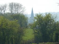 vue sur le clocher de Amettes