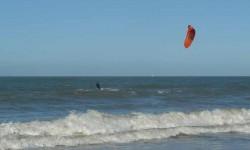 Un Sky-surfer.